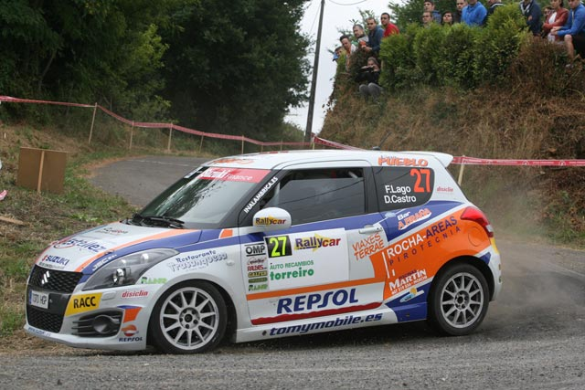 Victoria de Fran Lago en la Copa Suzuki Swift en el 44 Rallye de Ferrol