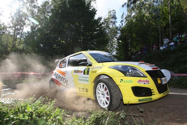 Gorka Antxustegi, segundo al finalizar la primera etapa del 44 Rallye de Ferrol