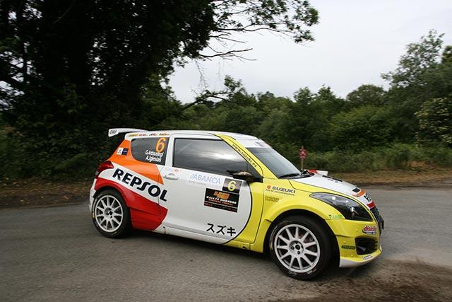 Karl Kruuda, piloto Suzuki en el Rallye de Ferrol