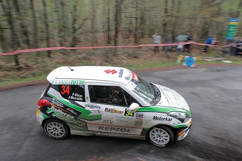 Fernando Rico ganador de la Copa Suzuki Swift en el Rallye de Ferrol