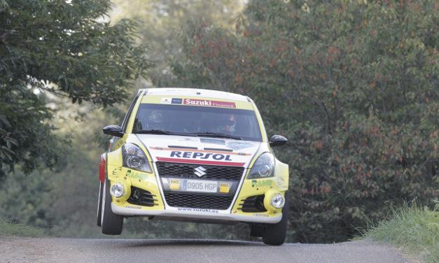 Adrián Díaz y Gorka Antxustegi en el 38 Rallye San Froilán