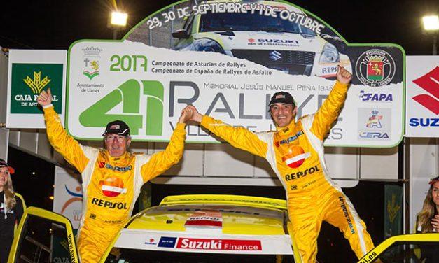 Joan Vinyes y Jordi Mercader, segundos en el 41 Rallye de Llanes