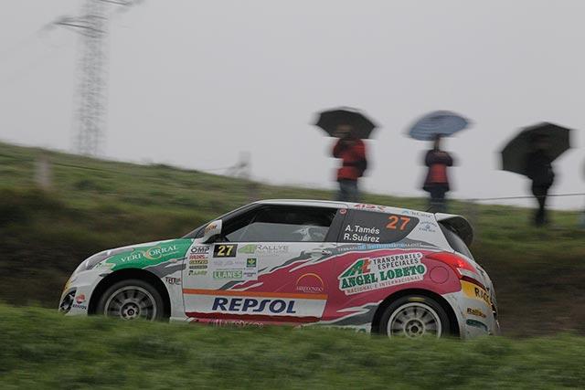 Alfredo Tamés se impone con autoridad en el Rallye de Llanes en la Copa Suzuki Swift