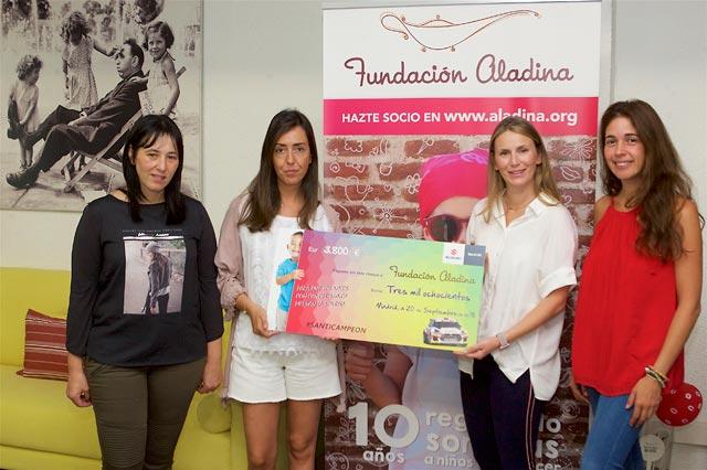 Suzuki Ibérica entrega el dinero recaudado en el Mercado Solidario a la Fundación Aladina