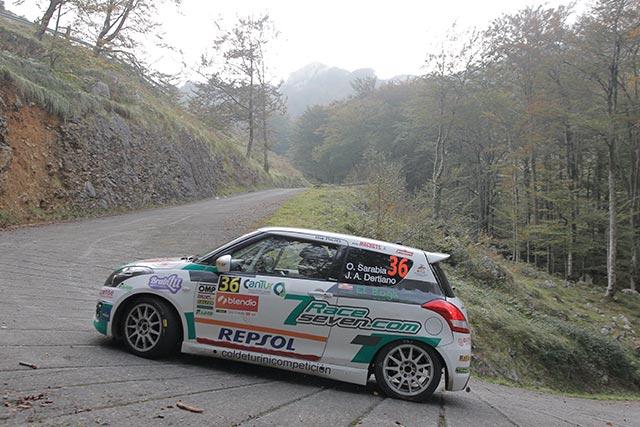 Victoria de Oscar Sarabia dentro la Copa Suzuki Swift en el 39 Rallye Blendio Santander