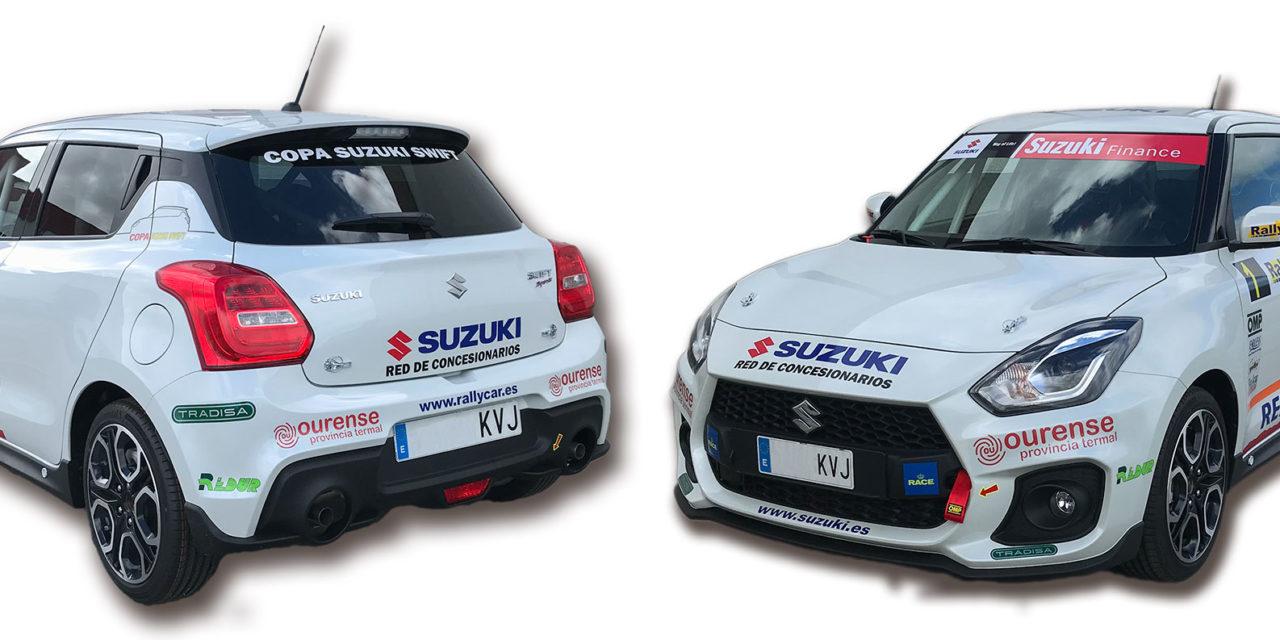 Colocación de la publicidad obligatoria en la Copa Suzuki Swift 2019