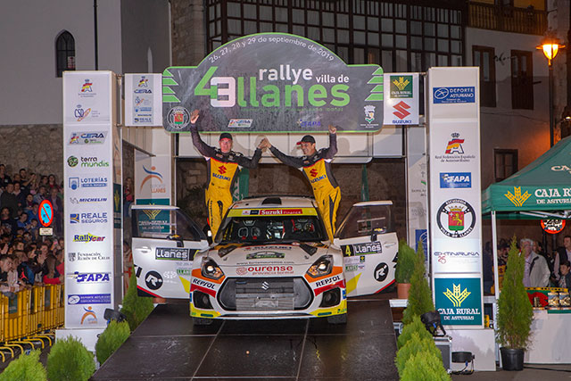 Nuevo podium de Joan Vinyes y Jordi Mercader en el 43 Rallye Villa de Llanes