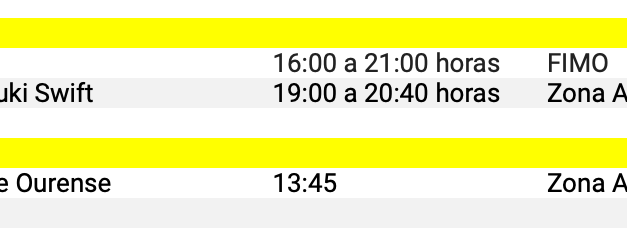Aviso 07.20 Rallye de Ferrol