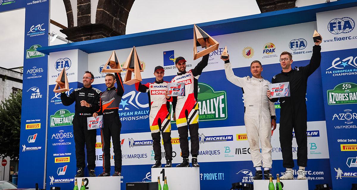 55 Azores Rallye, Javier Pardo y Adrián Pérez lideran el ERC2